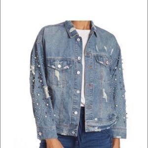 Boho boyfriend denim jacket